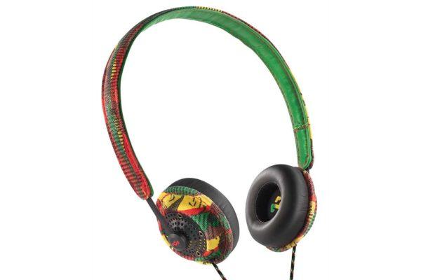Marley-Positive-Vibration-2.0- On-Ear Kopfhörer-1-Button-RemoteMic-Rasta-green