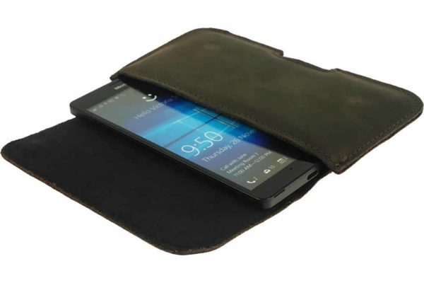 Bridge94-iPhone-6-6-S-7-8-Plus-Xs-Max-Xr-Echtleder-Gürtelholster-Tasche-dunkelbraun