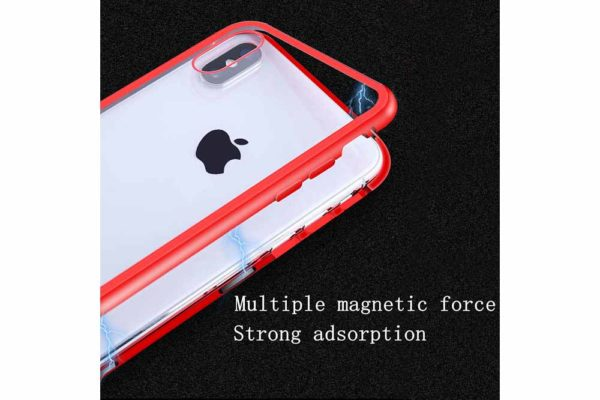 Bridge94-iPhone-6-6s-7-8-Plus-Xs-Max-Xr-magnetisch-haftend-Metal-Flip-Case-gehärtetes-Glas