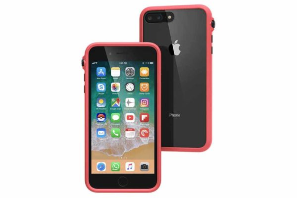 Catalyst-Impact-Military-Grade-Shock-resistentes-Case-(3m-MIL-STD-810G)-iPhone-7-8-Plus-Oese-Schlaufe-Toggle-Stummschaltung-Coral-Black