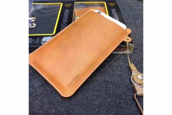 G-Case-iPhone-6-6s-7-8-Plus-X-Xs-Max-Universal-PU-Leder-Wallet-Slot-Pouch-Sleeve-Case-Braun