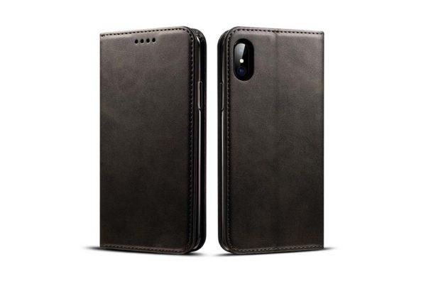Mobiletto-iPhone-X-Xs-PREMIUM-Bookcase-Magnetclip-Kartenfächer-schwarz-2
