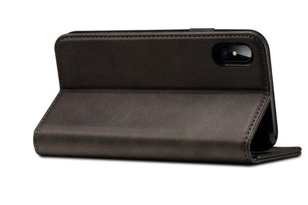 Mobiletto-iPhone-X-Xs-PREMIUM-Bookcase-Magnetclip-Kartenfächer-schwarz-5