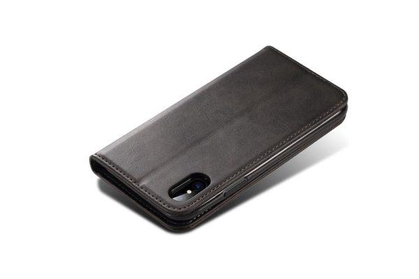Mobiletto-iPhone-X-Xs-PREMIUM-Bookcase-Magnetclip-Kartenfächer-schwarz
