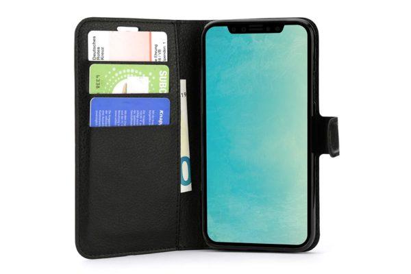 Mobiletto-iPhone-X-Xs-PREMIUM-ultra-schlanke-Schutzhülle-Magnetclip-Kartenfächer-schwarz-2