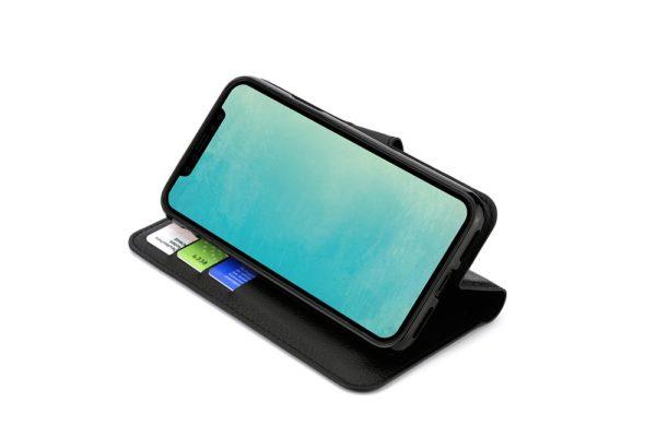 Mobiletto-iPhone-X-Xs-PREMIUM-ultra-schlanke-Schutzhülle-Magnetclip-Kartenfächer-schwarz-3