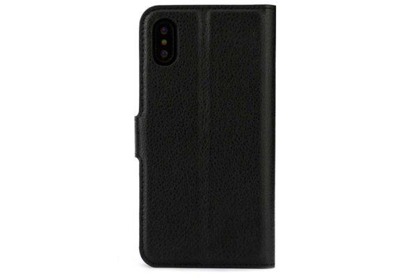 Mobiletto-iPhone-X-Xs-PREMIUM-ultra-schlanke-Schutzhülle-Magnetclip-Kartenfächer-schwarz-4