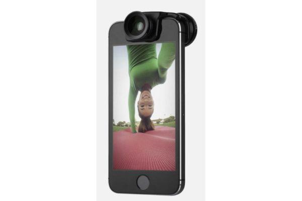 Olloclip-Selfie-3-in-1-Lens-Aufsteckobjektiv-Fisheye-Wide-Angle-Macro-iPhone-5-S-SE-Black-Clip-2