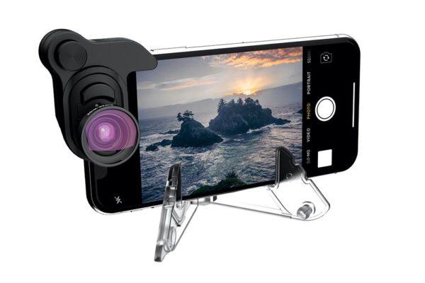Olloclip-iPhone-X-Photography-Box-Set-Aufsteckobjektiv-Fisheye-Weitwinkel-120°-Makro-schwarz-3