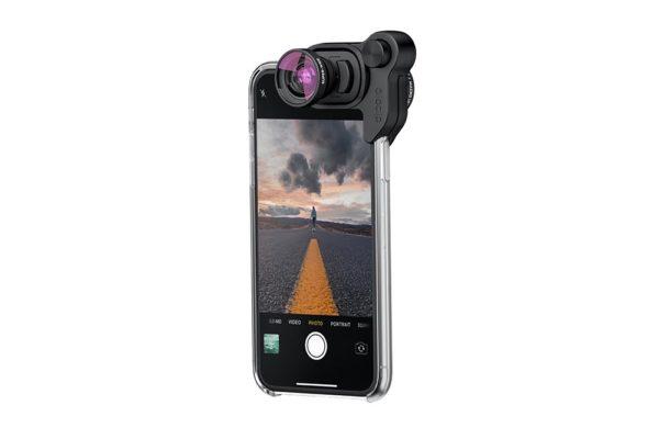 Olloclip-iPhone-X-Photography-Box-Set-Aufsteckobjektiv-Fisheye-Weitwinkel-120°-Makro-schwarz