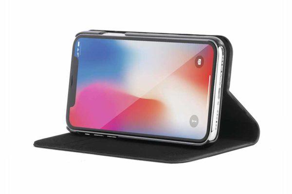 Tucano-Filo-Foliocase-Stand-Magnetfunktion-Kreditkartenfach-Anti-Radiation-System-iPhone-X-Xs-Schwarz-2