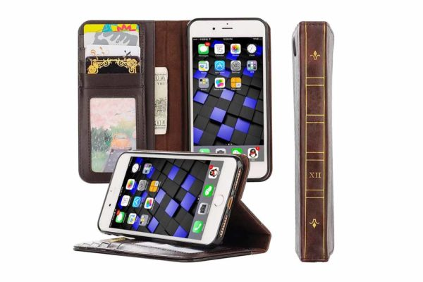 Bridge94-Retro-Wallet-PU-Leather-Book-Style-Flip-Cover-Case-iPhone-7-8-XR-XS-Max
