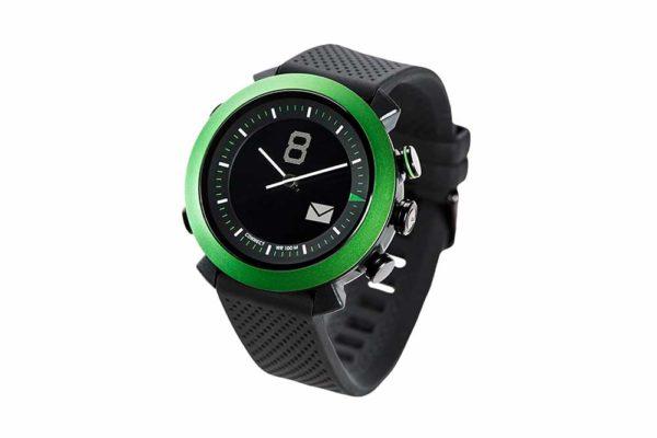 Cogito-Classic-Clevere-wasserdichte-Bluetooth-4.0-SmartWatch-Benachrichtungen-iPhone-Finder-Fernbedienungsfunktionen-Smartphones-Grün