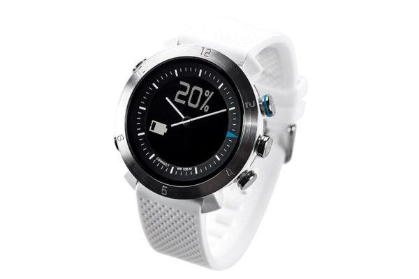 Cogito-Classic-Clevere-wasserdichte-Bluetooth-4.0-SmartWatch-Benachrichtungen-iPhone-Finder-Fernbedienungsfunktionen-Smartphones-Weiss
