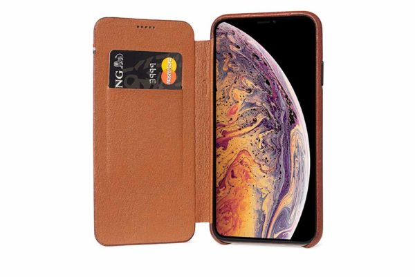 Decoded-Slim-Wallet-Ultradünne-edle-Ledertasche-iPhone-Xs-Max-Kartensteckplatz-magnetischem-Verschluss-Cinnamon-Brown-2