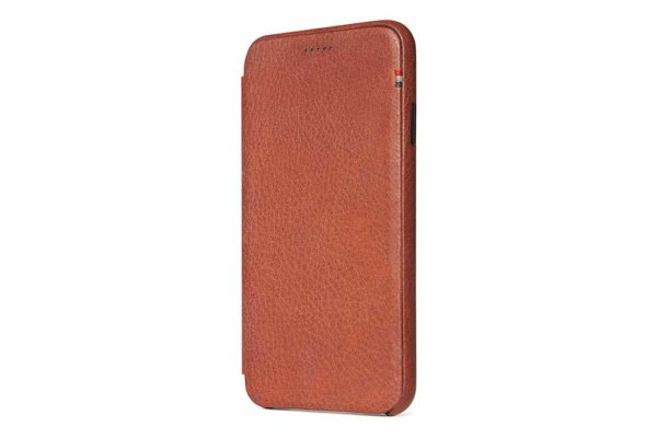 Decoded-Slim-Wallet-Ultradünne-edle-Ledertasche-iPhone-Xs-Max-Kartensteckplatz-magnetischem-Verschluss-Cinnamon-Brown