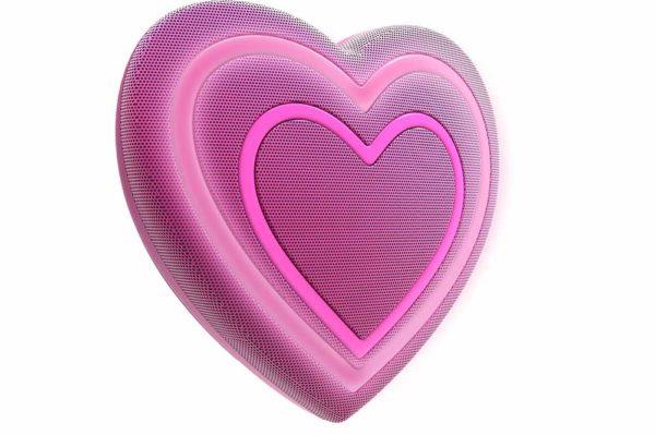 HMDX-JAM-Jamoji-V2-Heart-Bluetooth-Lautsprecher-lustiger-Emoticon-Form-Lichteffekten-Purple