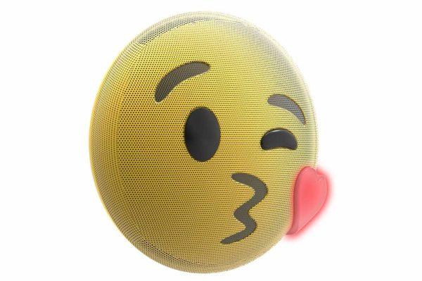 HMDX-JAM-Jamoji-V2-Kiss-Bluetooth-Lautsprecher-lustiger-Emoticon-Form-Lichteffekten-Gelb