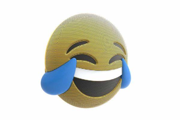 HMDX-JAM-Jamoji-V2-LOL-Bluetooth-Lautsprecher-lustiger-Emoticon-Form-Lichteffekten-Gelb