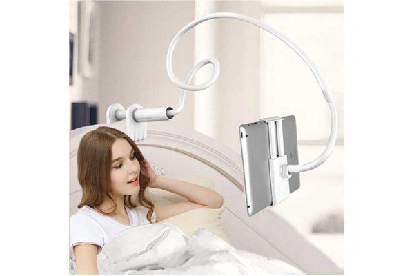 Tisch-Bett-Klemm-Ständer-Halter-Halterung-iPad-Tablet-Flexibler-Arm-2