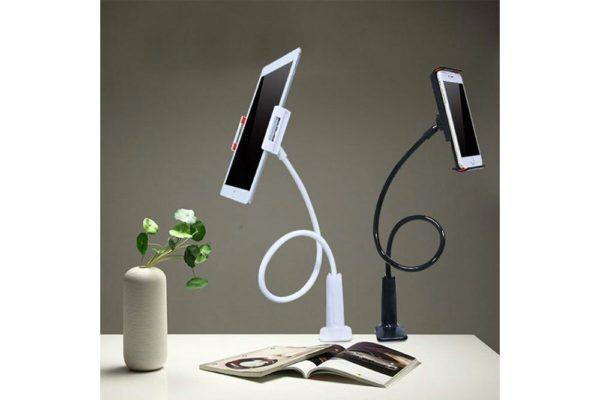 Tisch-Bett-Klemm-Ständer-Halter-Halterung-iPad-Tablet-Flexibler-Arm-3