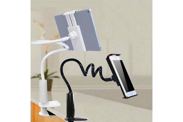 Tisch-Bett-Klemm-Ständer-Halter-Halterung-iPad-Tablet-Flexibler-Arm-4