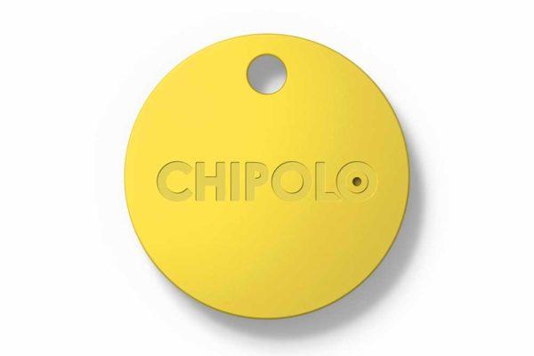 Chipolo-Classic-2nd-Generation-Keyfinder-wechselbarer-Batterie-Bluetooth-Social-GPS-iOS-Smartphones-Gelb