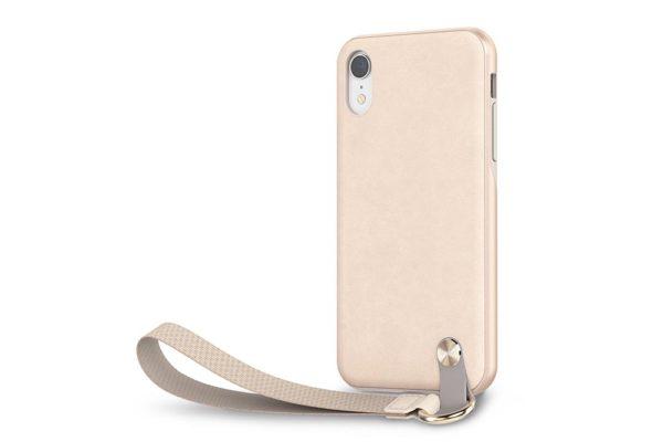 Moshi-Altra-Dünnes-Lifestyle-Case-Schutzfaktor-Armschlaufe-iPhone-XR-Beige