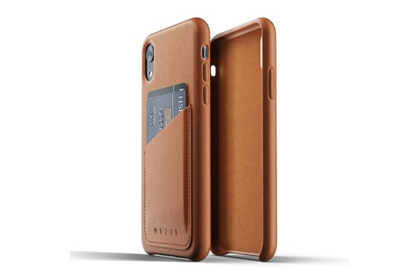 Mujjo-Full-Leather-Wallet-Case-Edle-Ledertasche-iPhone-Xr-Kreditkartenfach-braun