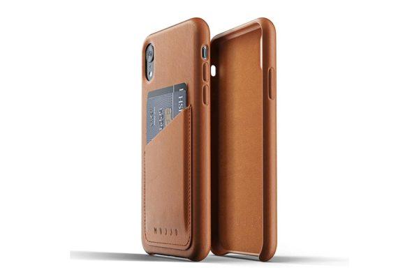 Mujjo-Full-Leather-Wallet-Case-Edle-Ledertasche-iPhone-Xr-Kreditkartenfach-braun