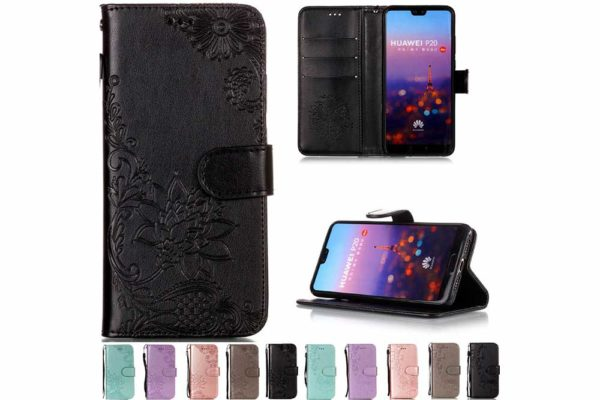 Bridge94-PU-Leder-Case-Huelle-Kartenhalter-Standfunktion-HTC-U12-Plus