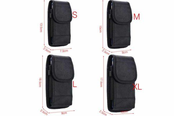 Bridge94-universal-Smartphone-Gürtel-Holster-Tasche-vertikal-horizontal-schwarz-5