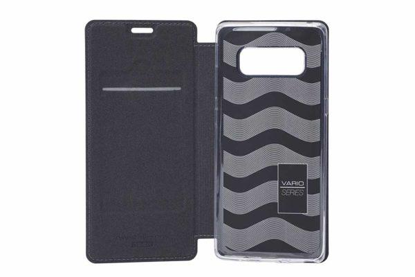 Nevox Vario Series-Samsung-Note-8-Booktasche-Kreditkartenfach-magent-basaltgrau