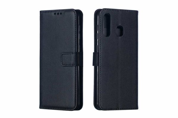 Bridge94-Samsung-Galaxy-A70-PU-Leder-Etui-Case-Huelle-Kreditkartenslots-Standfunktion-Magnetverschluss-schwarz