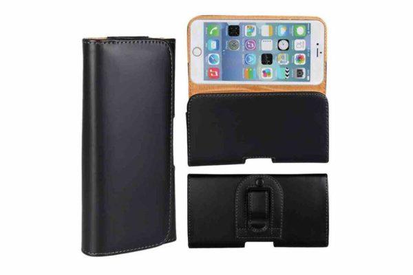 Bridge94-iPhone-Smartphone-Gürtel-Holster-Tasche-horizontal-quer-schwarz-glatt-10