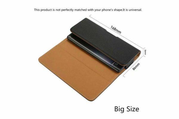 Bridge94-iPhone-Smartphone-Gürtel-Holster-Tasche-horizontal-quer-schwarz-glatt-4