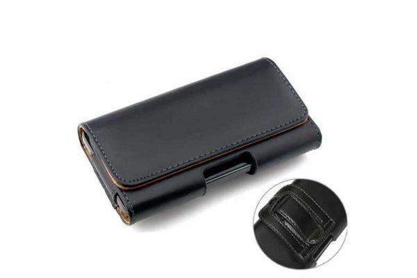 Bridge94-iPhone-Smartphone-Gürtel-Holster-Tasche-horizontal-quer-schwarz-glatt-7