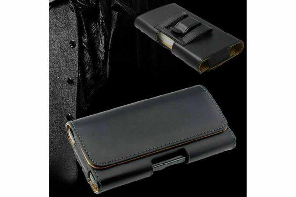 Bridge94-iPhone-Smartphone-Gürtel-Holster-Tasche-horizontal-quer-schwarz-glatt-8