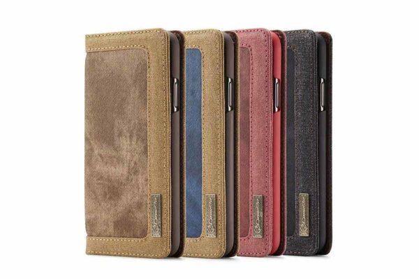 CaseMe-iPhone-11-Pro-Canvas-Etui-Case-Kreditkarten-Magnetverschluss-stand-1
