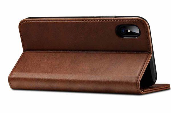 Mobiletto-iPhone-X-XS-Siena-Vintage-Hülle-Kreditkartenfächern-Standfunktion-braun-1
