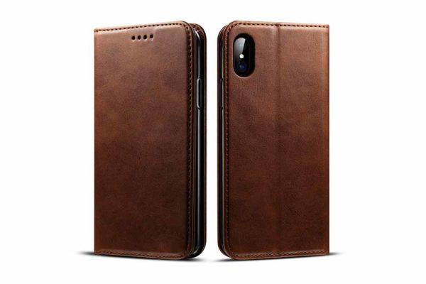 Mobiletto-iPhone-X-XS-Siena-Vintage-Hülle-Kreditkartenfächern-Standfunktion-braun-5