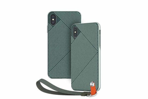 Moshi-Altra-duenne-Schutzhülle-Handschlaufe-iPhone-XS-Max-Waldgrün-1