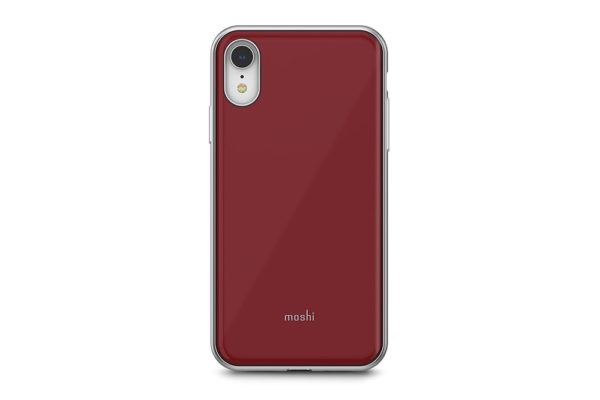 Moshi-Hartschalengehaeuse-iGlaze-Slim-iPhone-XR-Merlot-Rot-1