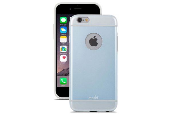 Moshi-iGlaze-schlankes-Premium-Case-iPhone-6-6s-Arktikblau-1