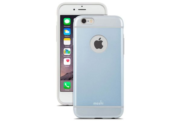 Moshi-iGlaze-schlankes-Premium-Case-iPhone-6-6s-Arktikblau-2