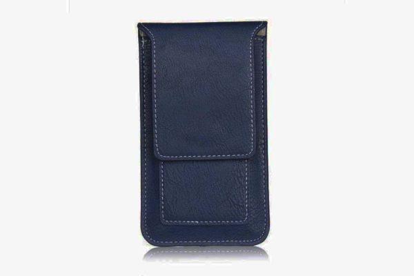 Bridge94-iPhone-6-7-8-Plus-Xr-Xs-Max-Gürtel-Holster-Tasche-Kreditkarten-vertikal-Blau-d