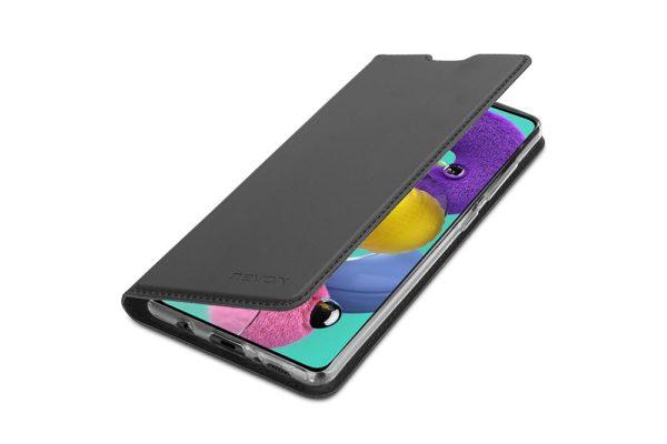 Nevox Vario Series-Samsmung-Galaxy-A51-Booktasche-Kreditkartenfach-magent-basaltgrau-2