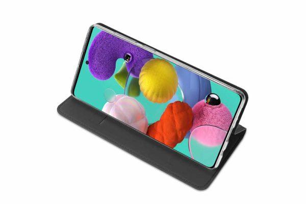 Nevox Vario Series-Samsmung-Galaxy-A51-Booktasche-Kreditkartenfach-magent-basaltgrau-3