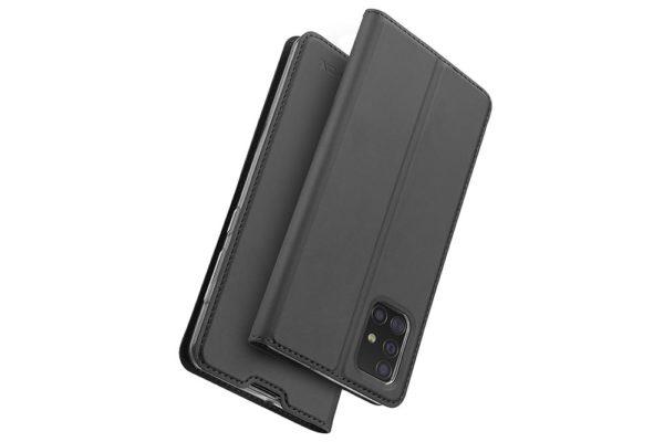 Nevox Vario Series-Samsmung-Galaxy-A51-Booktasche-Kreditkartenfach-magent-basaltgrau-4