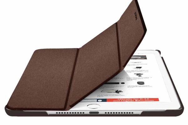 Macally-Bookstand-Schutzhülle-Stand-Sleep-Wakefunktion-iPad-10.2-2019-Braun